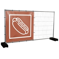 Bauzaunbanner Hot Dogs - 170 x 170 cm